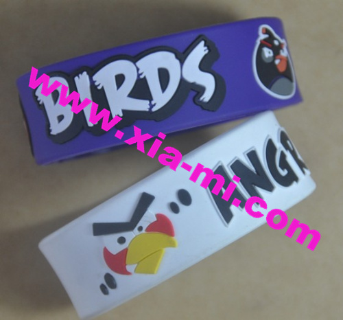 Angry Birds Embossed Band Bracelets
