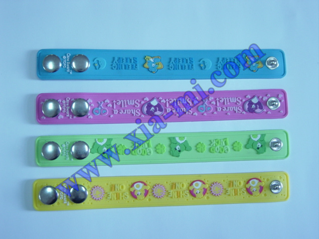 Soft PVC embossed pattern Bracelets