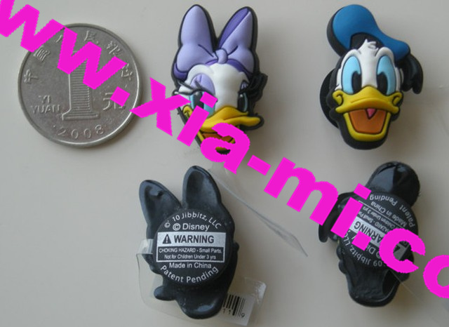 Disney shoes 3D charms pvc charm pins